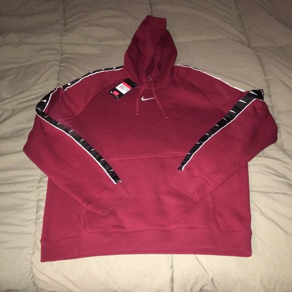 nike sportswear swoosh tape hoodie